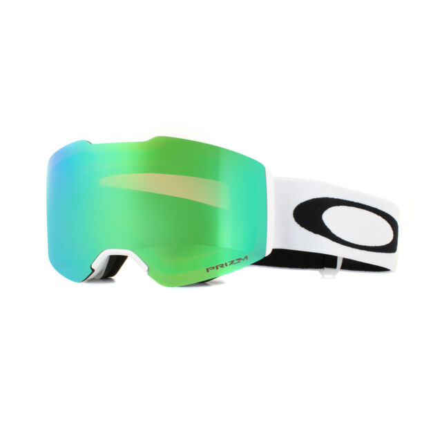 b4ef2308184 Oakley Fall Line Matte White Prizm Jade Iridium Mask Ski Snowboard ...