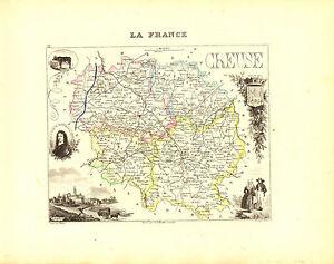 Carte du Département de la CREUSE- vers 1880. Migeon 3TDFfRob-09114851-942696530