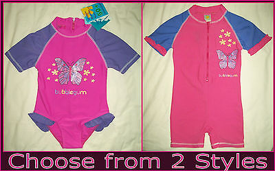 Baby Sunsuit RASHSUIT Sz 00 0 1 2 3 SWIMWEAR BATHERS Togs PINK /& PURPLE Rash NEW