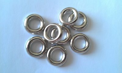 100 x CCB Plastic Silver or Gold Plain Spacer Beads Large Hole 5x10mm NP18