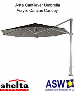 Details about Shelta ASTA Wind Rated Cantilever Umbrella -Various Colours