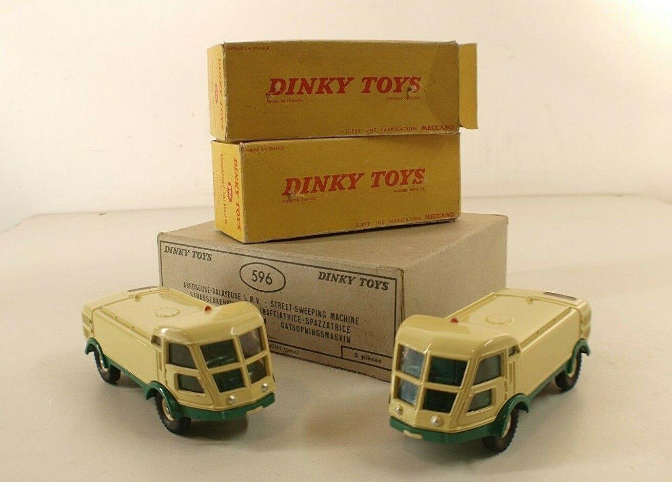 Dinky Toys F n° 596 boite revendeur avec 2 arroseuse balayeuse LMV neuves RARE