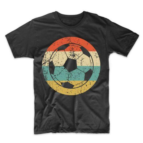 Soccer Coach Gift Men/'s Soccer Shirt Retro Soccer Ball Icon T-Shirt