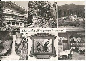 Ansichtskarte Bayrischzell - Alpengasthof zum feurigen Tatzelwurm - schwarz/weiß