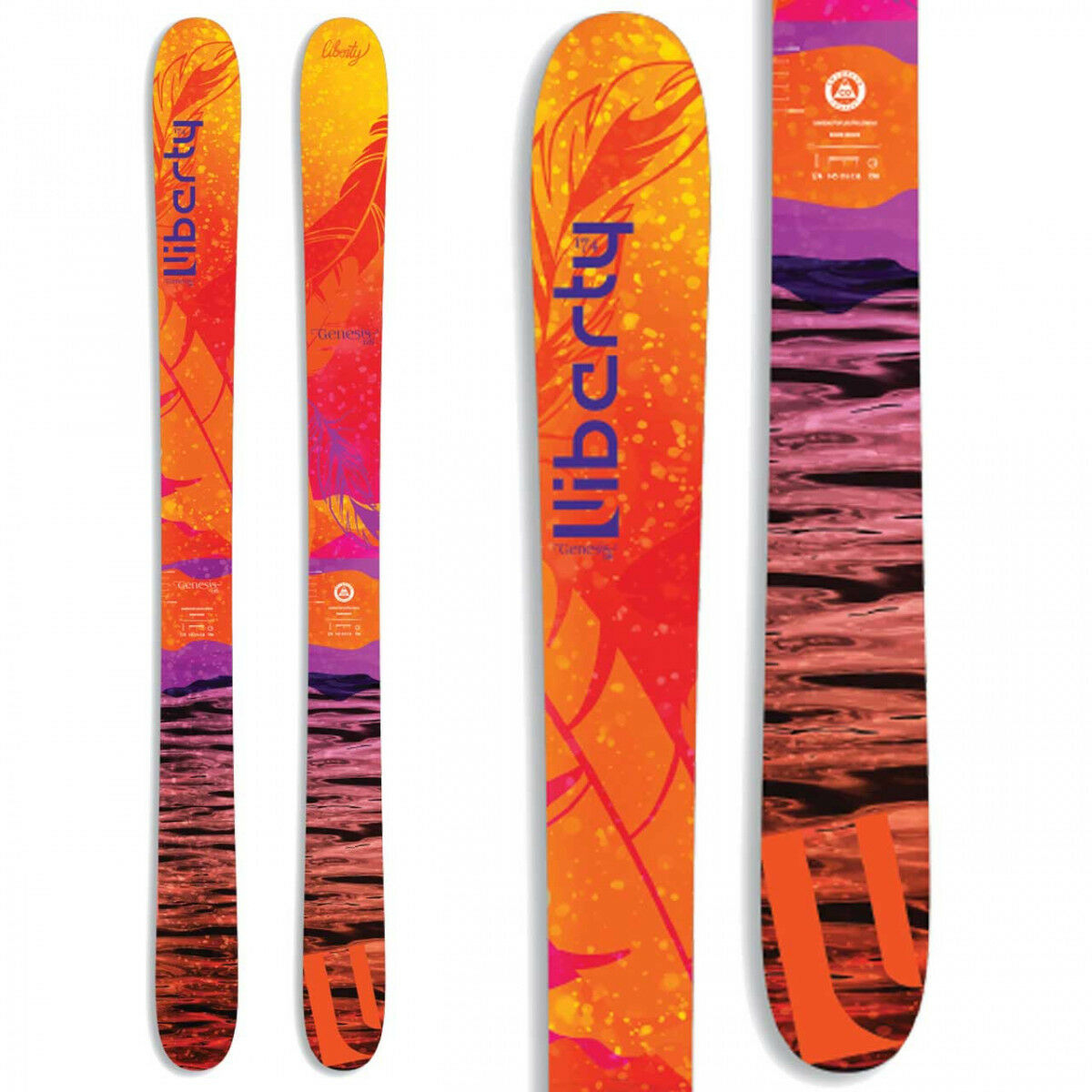 BRAND NEW  2018 LIBERTY GENESIS 116 WOMEN'S SKIS w SALOMON STH2 13 SAVE 50% OFF
