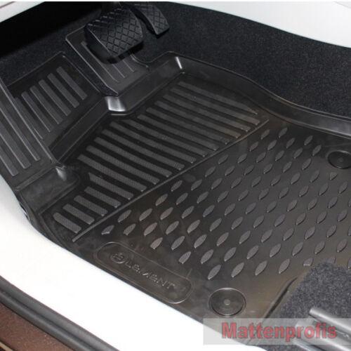 Gummimatten Gummifußmatten 3D für Renault Clio IV ab Bj.11//2012-2019 Nov