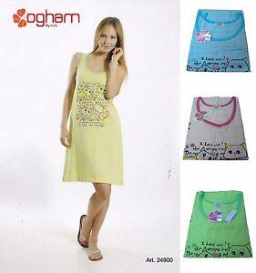 Camicia-da-notte-Canotte-con-Spalla-Larga-Donna-OGHAM-24900-100-Cotone
