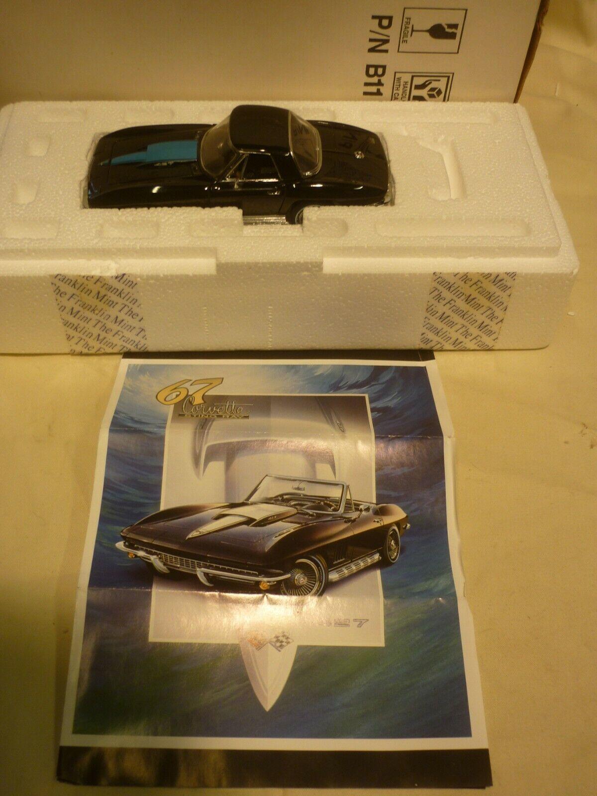 Une occasion FRANKLIN Comme neuf 1967  Chevrolet Corvette, Boxed, papiers,  économiser 50% -75% de réduction
