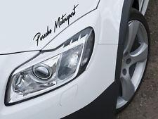 Porsche Motorsport Auto Aufkleber Sticker Sports Mind KFZ Limited Edition Decal