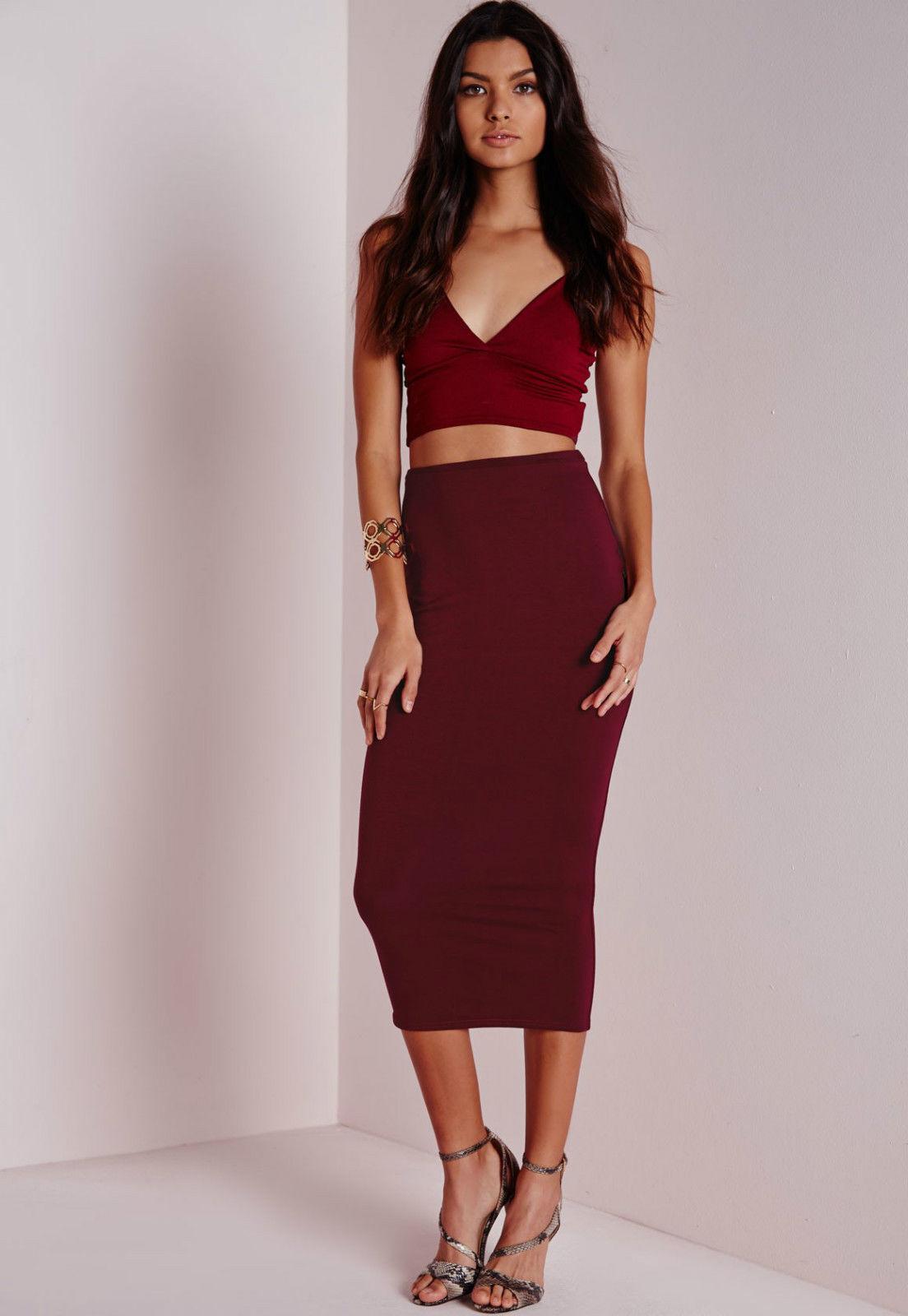 Modischer DaMännerrock rot   bordeaux - Kim Kardashian Stil - 34   XS - NEU