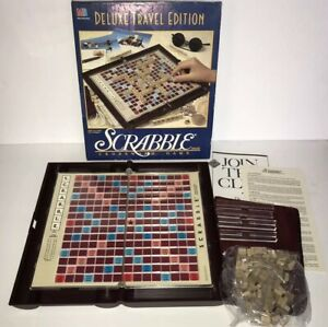 100/% COMPLETE VGC **FREE POSTAGE** DELUXE TRAVEL SCRABBLE IN ZIPPED CASE