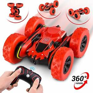 Abco Tech Remote Control RC Stunt Car Toy Rotating Racing Car 360° Flip 12 km/hr