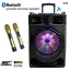 thumbnail 1 - SONKEN D-12 + DAC (S-TV) BLUETOOTH KARAOKE POWERED SPEAKER - 2 WIRELESS MIC'S