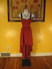NWT  bebe Brick Red Sexy Corset Hi-Lo Maxi Dress Size S