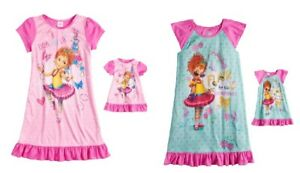 Disney Store Fancy Nancy Short Sleeve Nightgown Pajama Girl Size 5//6