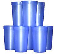12 Large 20 Oz. Translucent Purple Plastic Drinking Glasses Mfg. Usa, Recyclable
