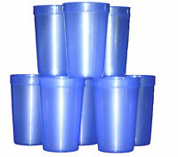 12 Large 20 Oz. Translucent Purple Plastic Drinking Glasses Mfg. Usa, Recyclable