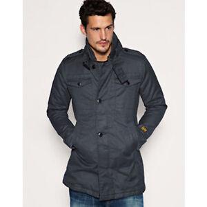 Détails sur G star Raw Ample Garber Coton Trench Coat Canard Toile 100% Coton Taille XL