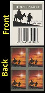 US 4711b Christmas Holy Family imperf NDC label block MNH 2012