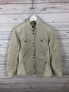 BARBOUR-Reins-Quilted-Jacket-UK12-Beige-Great-Condition-Womens