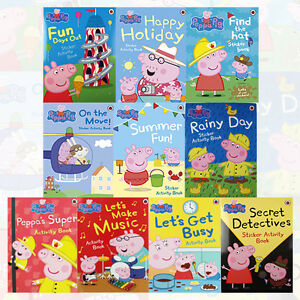 Peppa-Pig-Sticker-Activity-Book-Series-Collection-10-Books-Set-NEW-Find-the-hat