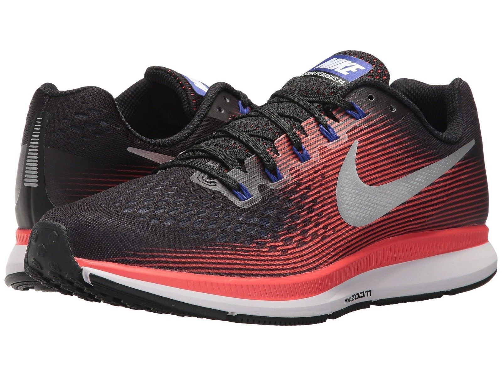 NIB Nike Air Zoom Pegasus 34 Sneakers Shoes Red Red Red Black 898066-006 Mens Sz 9.5 -13 25a610