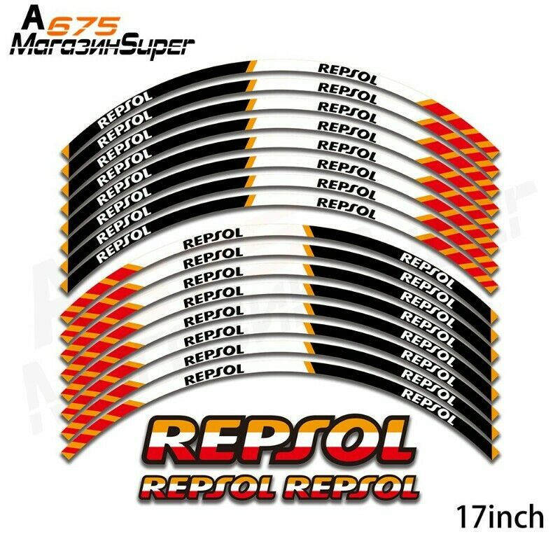 New Motorcycle Wheel Decals Reflective Stickers Decal 17inch Rim For HONDA REPSOL CBR1000RR CBR600RR