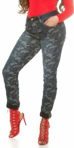 Sexy-Curvy-Women-039-s-Plus-Jeans-camouflage-in-Blue-UK-10-20