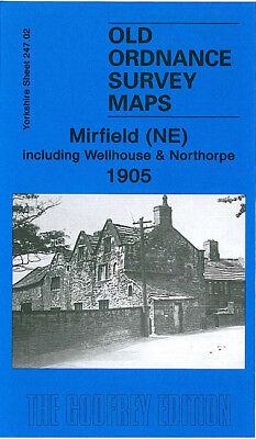 OLD ORDNANCE SURVEY MAP MIRFIELD NW BATTYEFORD ROE 1905 HEAD WATER ROYD LANE