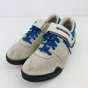 Shimano-Cycling-spd-Mtn-Biking-Shoes-Gray-Suede-Size-40