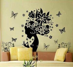 Schmetterlinge-Wandsticker-Wandtattoo-Feen-Frau-Wand-Aufkleber-Maedchen-Tattoo