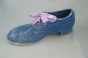Cute-Blue-Shoe-Boot-Ornament-Trinket-Flower-Holder-approx-H-3-034-L-6-034-Free-P-amp-P