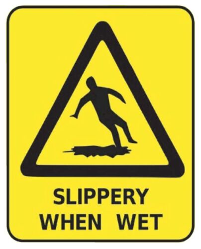 Slippery When Wet  Sticker  G441