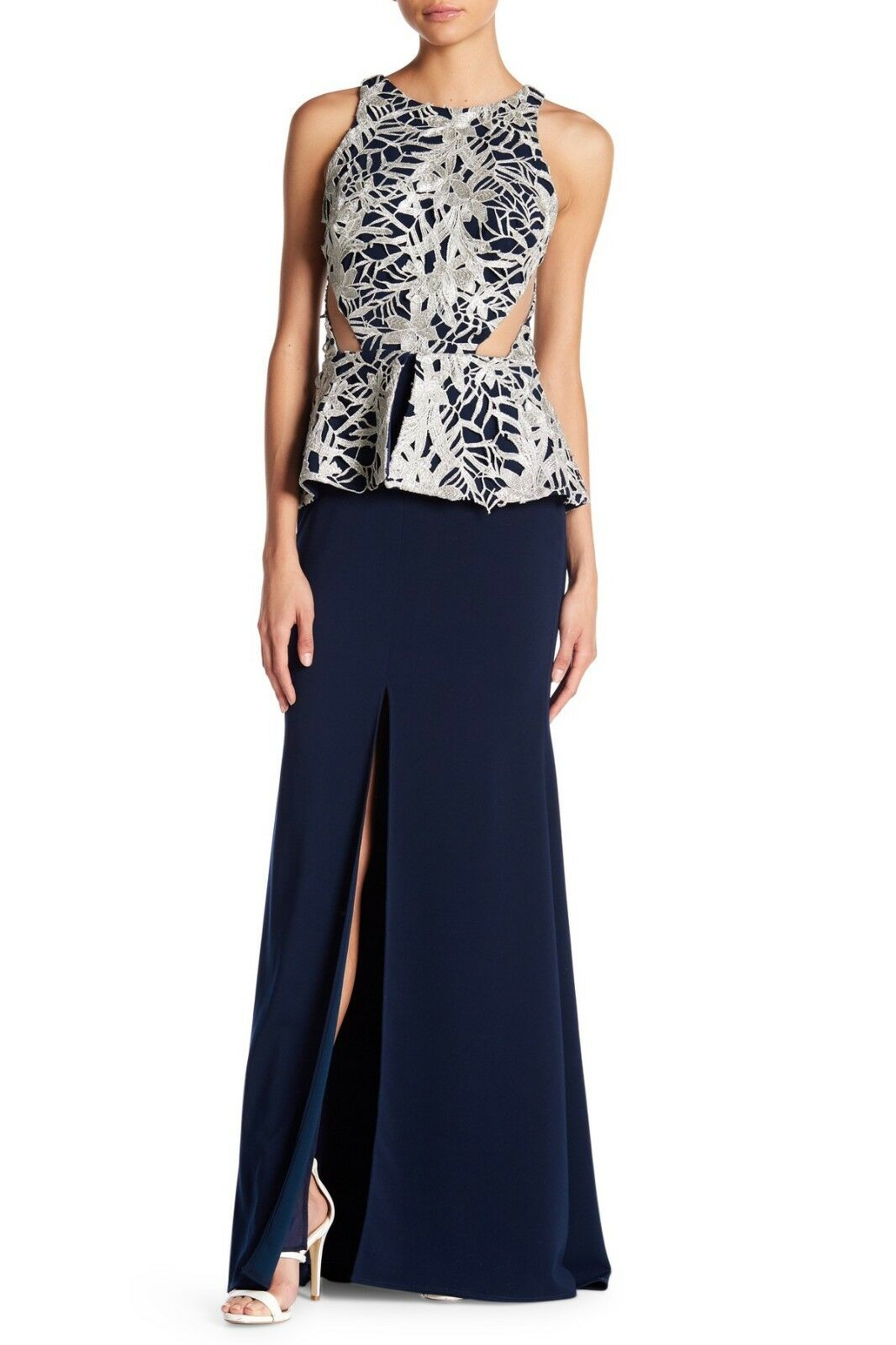 Nicole Bakti Sleeveless Embellished Dress (size 10)