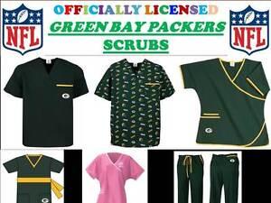 9efe0143810 GREEN BAY PACKERS SCRUB TOP-GREENBAY PACKERS SCRUB PANTS-GREENBAY ...