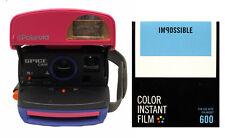 MACCHINA fotografica Polaroid SPICECAM 600 con Pellicola a Colori Impossible 600