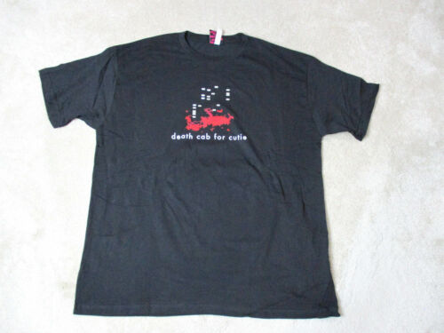 NEW Death Cab For Cutie Concert Shirt Adult Extra Large Black Red Band Tour Mens