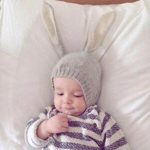 Cute Rabbit Ears Baby Boy Girl Warm Beanie Infant Toddler Kids Knit ... 5ad9e0997e96