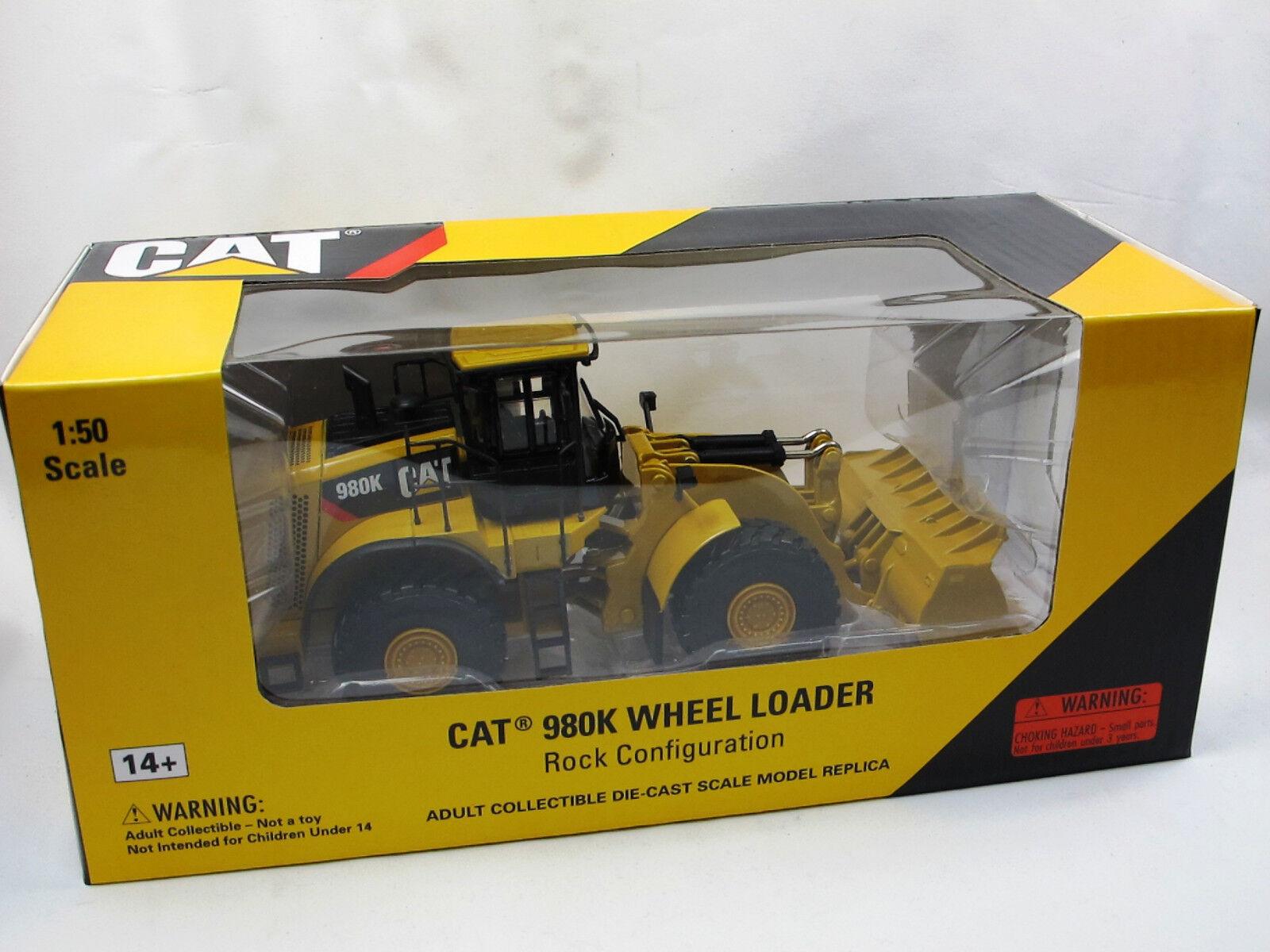 Norscot 55296 Cat 980k excavadora con piedra pala Wheel Loader 1 50 nuevo embalaje original