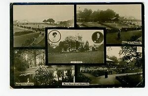 Parc Howard LLANELLY Real Photo RPPC Antique WALES Carmarthenshire 1909