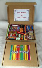 Sweet Retro Gift Postal Box Birthday Present Wham Kinder Jazzles Candy Sticks