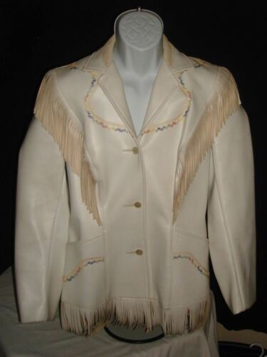 Pioneer Wear Women's Jacket Coat Navajo White Leat