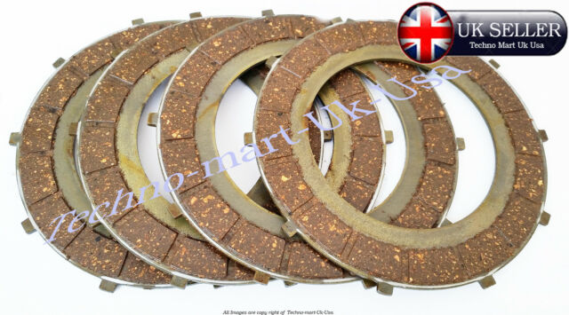 NEW  ROYAL ENFIELD BULLET MOTORBIKE 4SPEED CLUTCH FRICTION PLATE KIT  # 597383