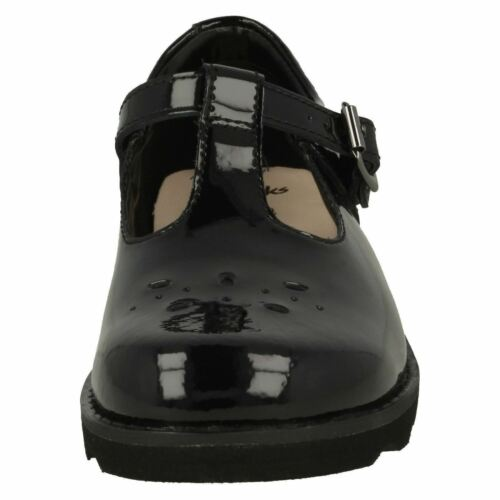 Clarks Crown WIsh  Patent  Leather T Bar Shoe
