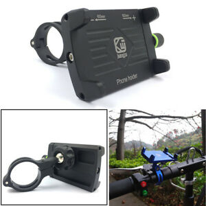 CNC-Aluminum-Motorcycle-Bike-Handlebar-Adjustable-Phone-GPS-Mount-Holder-Black