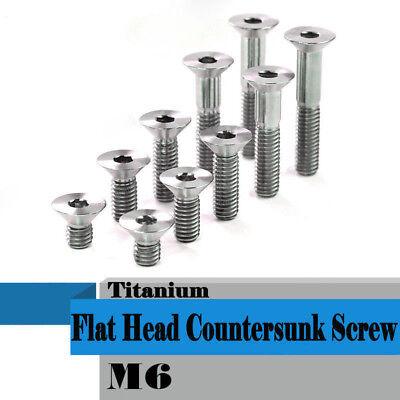 10Pcs M6x10-35mm Titanium Alloy Countersunk Screws Flat Head Bolts 7 Colors