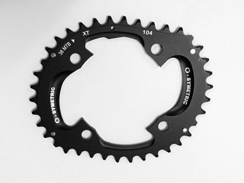 Osymetric XT M785 BCD 104mm 4  Bolts 38T MTB Bicycle Chainring  exclusive designs