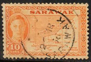 Sarawak-KGVI-10c-1950-Used-P