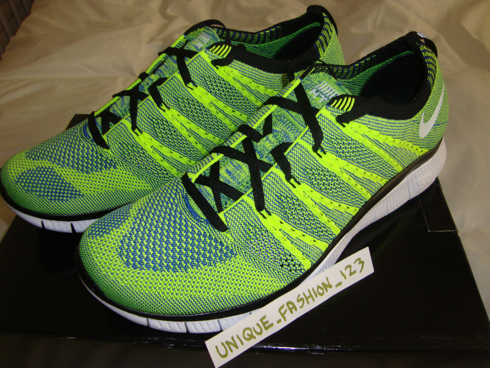 NIKE FREE FLYKNIT HTM SP VOLT GREEN US 12 MIXTURE 2013 CITY CHUKKA