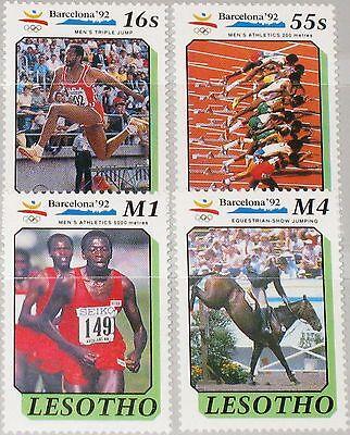 Billiger Preis Lesotho 1990 860-63 791-794 Olympics 1992 Barcelona Running Laufen Sport Mnh